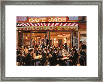 Cafe Jade Framed Print by Guido Borelli