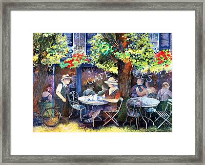 Cafe Jules Framed Print by Lisa Graa Jensen