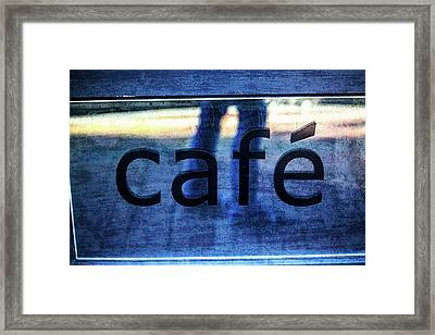 Cafe Framed Print by Karol Livote