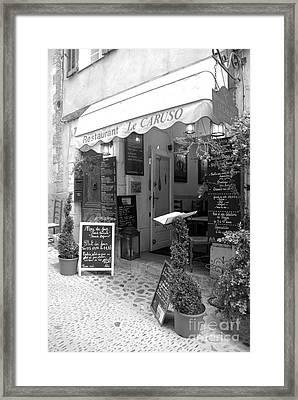Cafe Framed Print by Lisa Schafer
