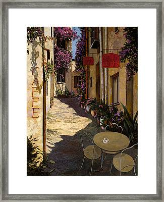 Cafe Piccolo Framed Print by Guido Borelli