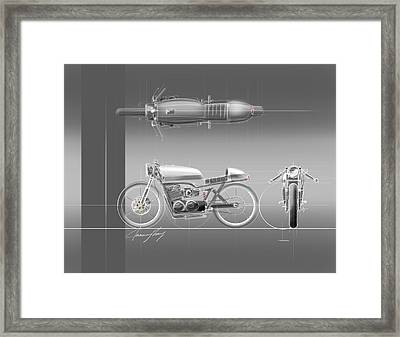 Cafe Racer Framed Print by Jeremy Lacy