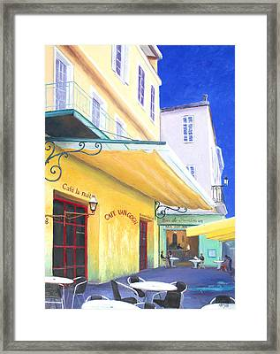 Cafe Van Gogh Framed Print by Jan Matson