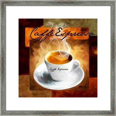 Caffe Espresso Framed Print by Lourry Legarde