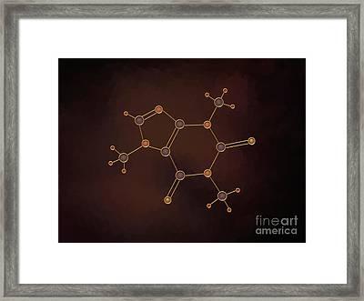 Caffeine Molecule Framed Print by Pet Serrano