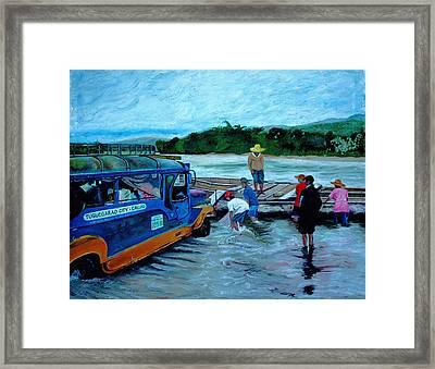 Cagayan River Framed Print by Carol Mallillin-Tsiatsios