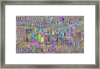 Caged Graffiti  Framed Print by Kenneth James