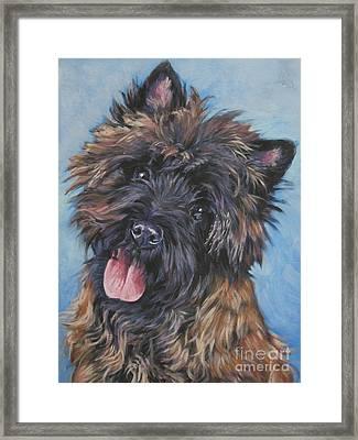 Cairn Terrier Brindle Framed Print by Lee Ann Shepard