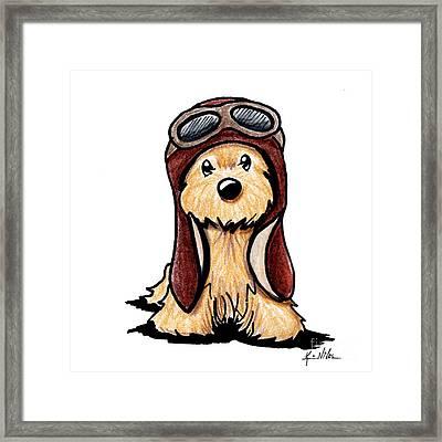 Cairn Terrier Pilot Framed Print by Kim Niles