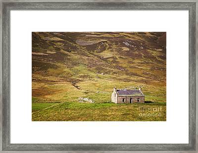 Cairngorms Cottage Framed Print by Jane Rix