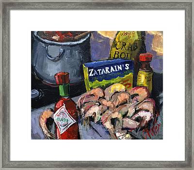 Cajun Boil Framed Print by Carole Foret