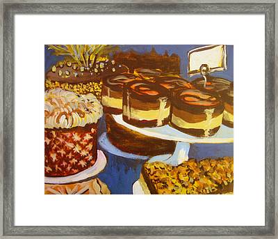 Cake Case Framed Print by Tilly Strauss