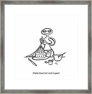 Cake Competitor Framed Print by Leanne Wilkes
