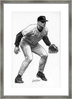 Cal Ripken Framed Print by Harry West