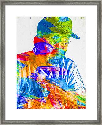 Cal Ripken Jr Digital Painting 2 Framed Print by David Haskett