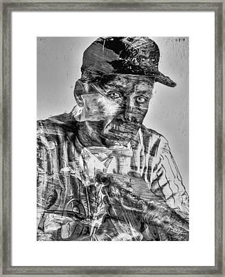 Cal Ripken Jr Digitally Painted Black White Framed Print by David Haskett
