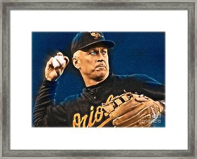 Cal Ripken Framed Print by Wbk