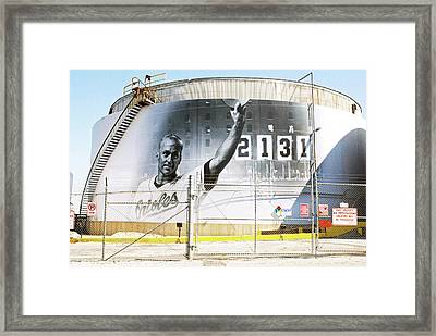 Cal Ripkin On Under Armour Title Tank, Baltimore Framed Print by Chet Dembeck
