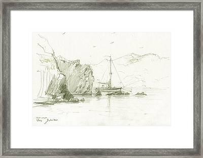 Cala Culip Cap De Creus Framed Print by Juan Bosco