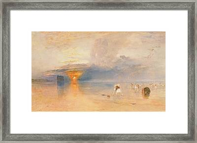 Calais Sands At Low Water Framed Print by Joseph Mallord William Turner