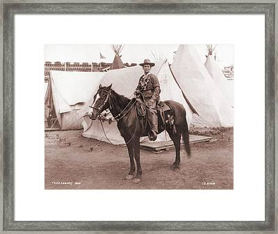 Calamity Jane 1852-1903, Posing Framed Print by Everett