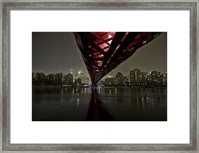 Calgary Peace Bridge Framed Print by Helder Martins