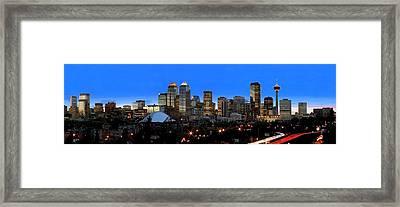 Calgarys Skyline Framed Print by Richard Wear