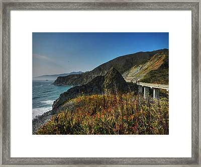 California - Big Sur 011 Framed Print by Lance Vaughn