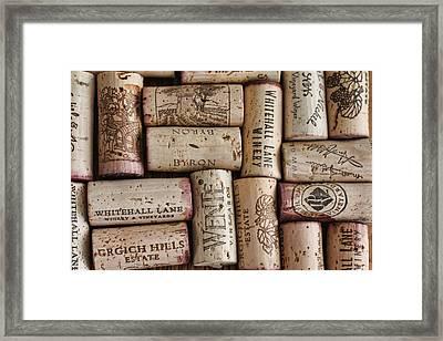 California Corks Framed Print by Nancy Ingersoll