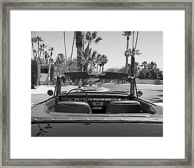 California Cruisin B And W Framed Print by Cheri Randolph