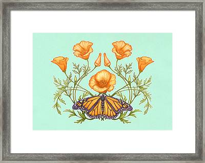 California Dream Mint Edition Framed Print by Catherine Noel