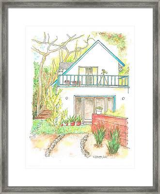 California-house Framed Print by Carlos G Groppa