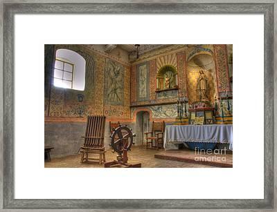 California Missions La Purisima Alter Framed Print by Bob Christopher