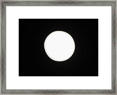 California Moon Framed Print by Elizabeth Hoskinson