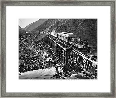 California: Railroad, 1869 Framed Print by Granger