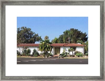 California Ranch House Framed Print by Gordon Beck