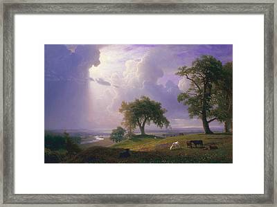 California Spring Framed Print by Albert Bierstadt