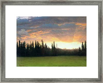 California Sunset Framed Print by Albert Bierstadt