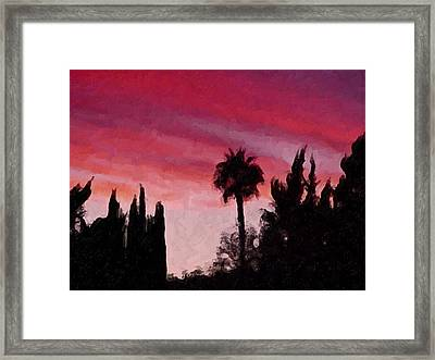 California Sunset Painting 1 Framed Print by Teresa Mucha