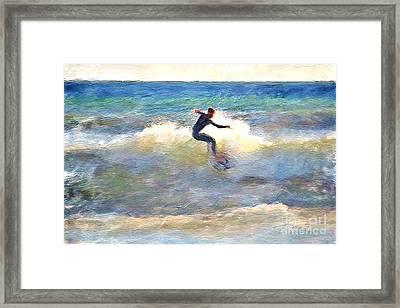 California Surfing Framed Print by Danuta Bennett