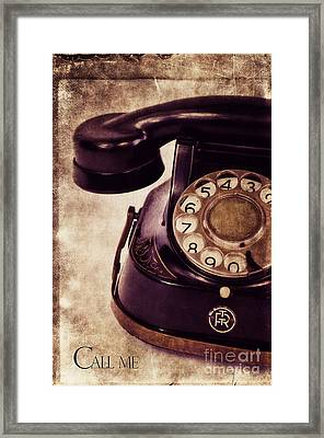 Call Me Framed Print by Angela Doelling AD DESIGN Photo and PhotoArt