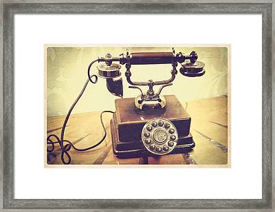 Call Me Framed Print by Colleen Kammerer