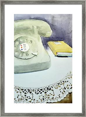 Call Me - Original Watercolor Painting By Nenad Kojic Framed Print by Nenad Kojic