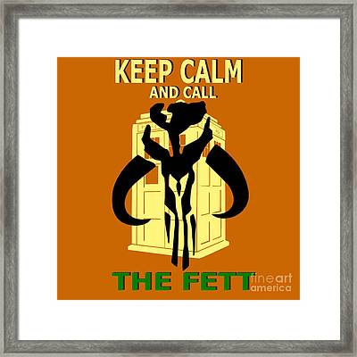 Call The Fett Framed Print by Justin Moore