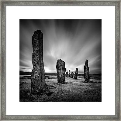 Callanish Stones 2 Framed Print by Dave Bowman