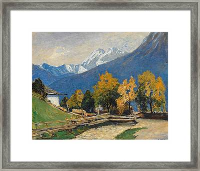 called Sign High mountain  Framed Print by Walter Kuphal