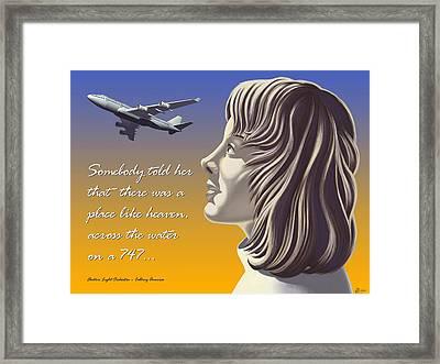 Calling America Framed Print by Aasmund Berge