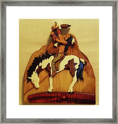 Calling The Great Spirit Framed Print by Russell Ellingsworth