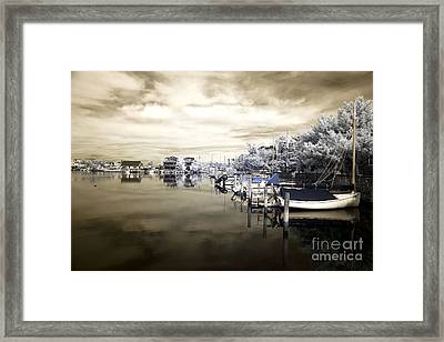 Calm At Lbi Infrared Framed Print by John Rizzuto