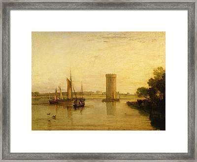 Calm Morning Framed Print by Joseph Mallord William Turner